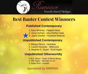 Mid-Michigan RWA Best Banter Contest Awards